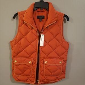 J. Crew burnt orange vest